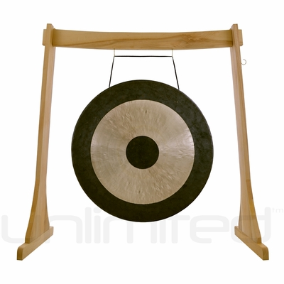 "24"" Chau Gong on the Unlimited Revelation Gong Stand - FREE SHIPPING"