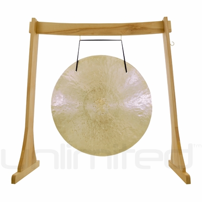 """24"""" Wind Gong on the Unlimited Revelation Gong Stand - FREE SHIPPING"""