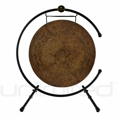 """26"""" Atlantis Gong on the Meinl Table Top Gong Stand (TMTGS-XL)"""