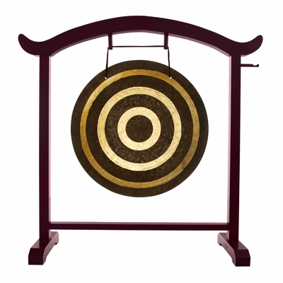 """26"""" Solar Flare Gong on the Deeper Meaning Gong Stand - FREE SHIPPING"""