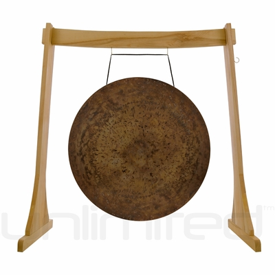 """26"""" Atlantis Gong on the Unlimited Revelation Gong Stand  - FREE SHIPPING"""