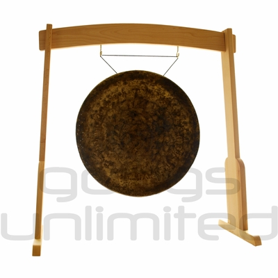 """28"""" Atlantis Gong on the Meinl Gong/Tam Tam Wood Stand (TMWGS-M)"""