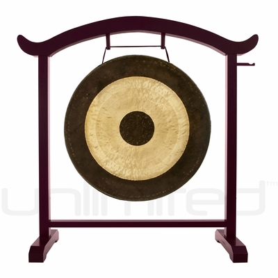 """28"""" Chau Gong on the Deeper Meaning Gong Stand  - FREE SHIPPING"""