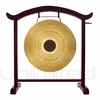 """28"""" Chocolate Drop Gong on the Deeper Meaning Gong Stand  - FREE SHIPPING"""