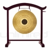 """26"""" Chocolate Drop Gong on the Deeper Meaning Gong Stand  - FREE SHIPPING"""