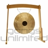 """28"""" Chocolate Drop Gong on the Meinl Gong/Tam Tam Wood Stand (TMWGS-M) - SOLD OUT"""
