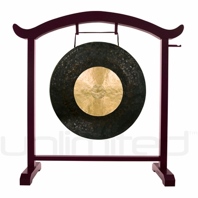 """26"""" Dark Star Gong on the Deeper Meaning Gong Stand  - FREE SHIPPING"""