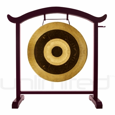 """28"""" Subatomic Gong on the Deeper Meaning Gong Stand  - FREE SHIPPING"""