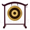"""26"""" Subatomic Gong on the Deeper Meaning Gong Stand  - FREE SHIPPING"""