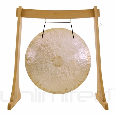 """28"""" Wind Gong on the Unlimited Revelation Gong Stand - FREE SHIPPING"""
