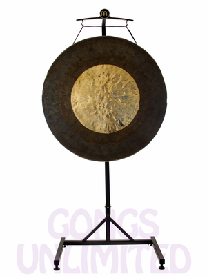 """32"""" Dark Star Gong on the Meinl Gong/Tam Tam Stand (TMGS)"""