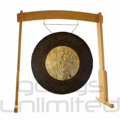 """32"""" Dark Star Gong on the Meinl Gong/Tam Tam Wood Stand (TMWGS-L) - SOLD OUT"""