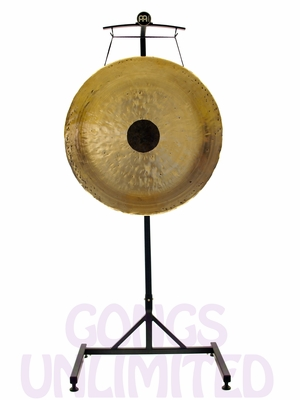 """32"""" Chocolate Drop Gong on the Meinl Gong/Tam Tam Stand (TMGS)"""