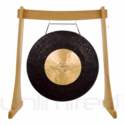 "32"" Dark Star Gong on the Unlimited Revelation Gong Stand - FREE SHIPPING"