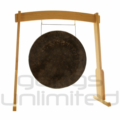"32"" Mother Tesla Gong on the Meinl Gong/Tam Tam Wood Stand (TMWGS-L) - SOLD OUT"
