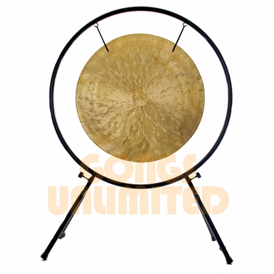 "SOLD OUT FOR A BIT 32"" Wind Gong on Center Yourself Stand - FREE SHIPPING"