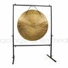 """SOLD OUT 34"""" Wind Gong on Rambo Rimbaud Gong Stand"""