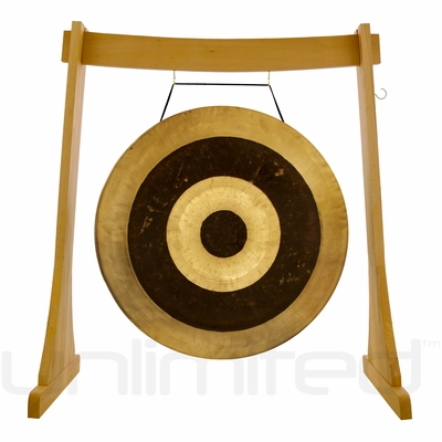 """40"""" Subatomic Gong on the Unlimited Revelation Gong Stand - FREE SHIPPING"""