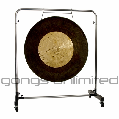 "36"" Dark Star Gong on Astral Reflection Gong Stand"
