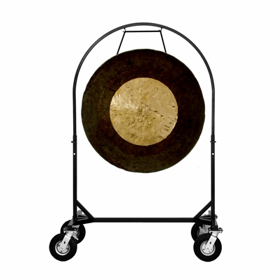 "36"" Dark Star Gong on Corps Design Adjustable Marching Band Gong Stand - SOLD OUT"