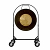 """36"""" Dark Star Gong on Corps Design Adjustable Marching Band Gong Stand"""