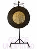 "36"" Dark Star Gong on the Meinl Gong/Tam Tam Pro Stand (TMGS-2)"