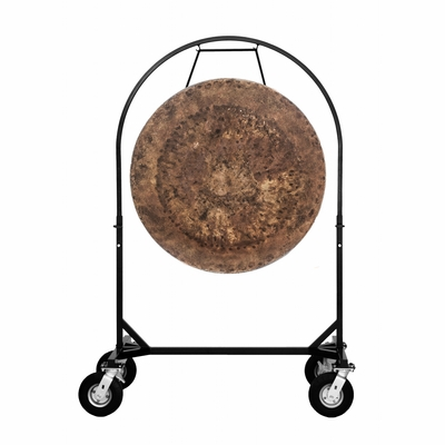 """36"""" Atlantis Gong on Corps Design Adjustable Marching Band Gong Stand"""