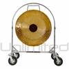"36"" Chocolate Drop Gong on Chrome Corps Design Adjustable Marching Band Gong Stand"