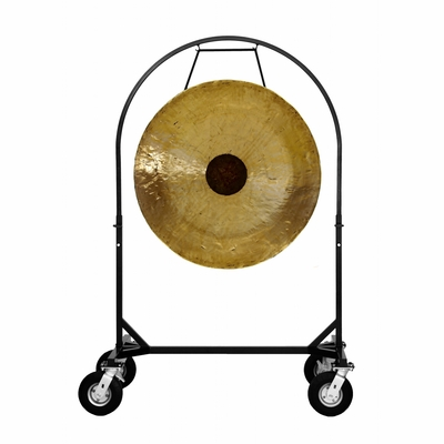 "36"" Chocolate Drop Gong on Corps Design Adjustable Marching Band Gong Stand"