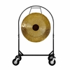 """36"""" Chocolate Drop Gong on Corps Design Adjustable Marching Band Gong Stand"""