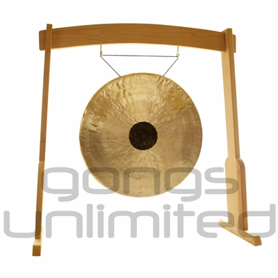 """36"""" Chocolate Drop Gong on the Meinl Gong/Tam Tam Wood Stand (TMWGS-L) - SOLD OUT"""