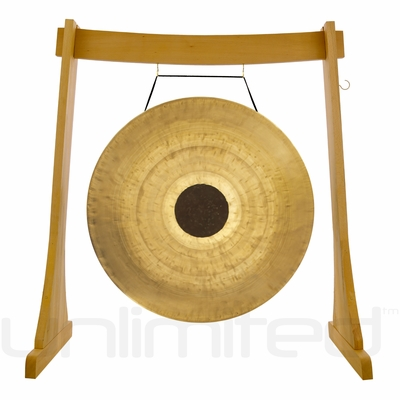 "36"" Chocolate Drop Gong on the Unlimited Revelation Gong Stand - FREE SHIPPING"