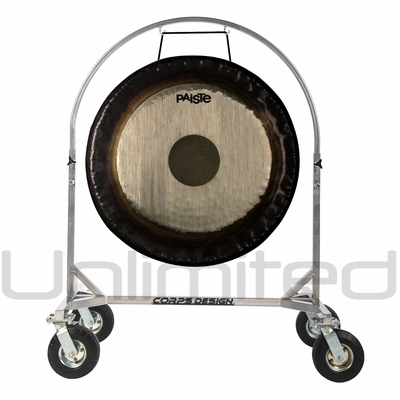"""36"""" Paiste Symphonic Gong on Chrome Corps Design Adjustable Marching Band Gong Stand"""