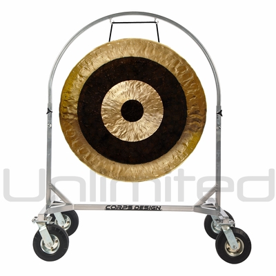 """SOLD OUT 36"""" Subatomic Gong on Chrome Corps Design Adjustable Marching Band Gong Stand"""
