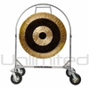 "SOLD OUT 36"" Subatomic Gong on Chrome Corps Design Adjustable Marching Band Gong Stand"