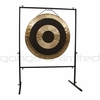 """SOLD OUT 36"""" Subatomic Gong on Rambo Rimbaud Gong Stand"""