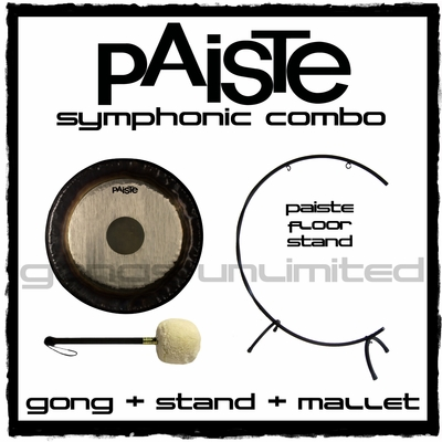 """36"""" Paiste Symphonic Gong on """"C"""" Stand with M6 Mallet"""