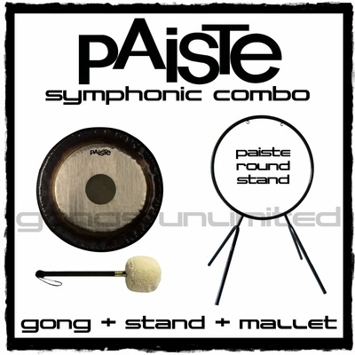 "36"" Paiste Symphonic Gong on Round Stand with M6 Mallet"