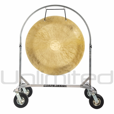 "36"" Wind Gong on Chrome Corps Design Adjustable Marching Band Gong Stand"