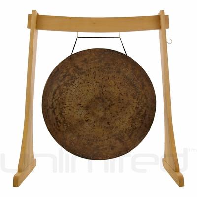 "36"" Atlantis Gong on the Unlimited Revelation Gong Stand - FREE SHIPPING"
