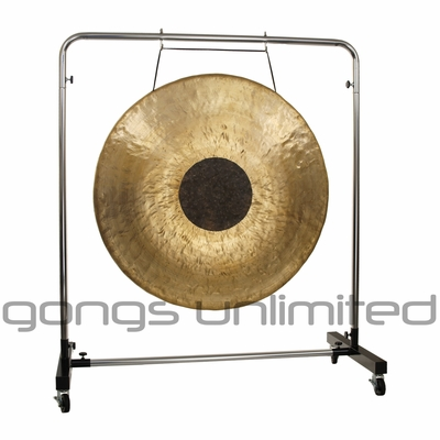"""40"""" Chocolate Drop Gong on Astral Reflection Gong Stand"""