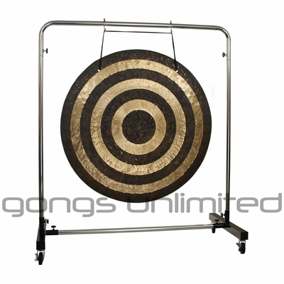 """40"""" Solar Flare Gong on Astral Reflection Gong Stand"""