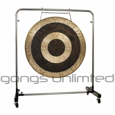 "40"" Subatomic Gong on Astral Reflection Gong Stand"