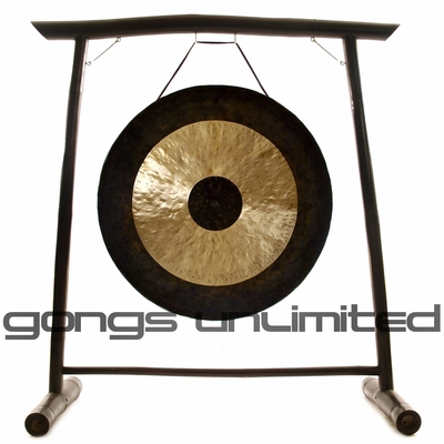 "44"" Chau Gong on the Vietnamese Bamboo Gong Stand - FREE SHIPPING"