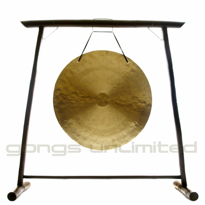 """44"""" Wind Gong on the Vietnamese Bamboo Gong Stand - FREE SHIPPING"""