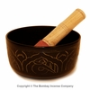 "6"" Anodized Singing Bowl with Buddha Relief - FREE SHIPPING"