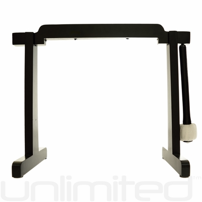 """6"""" to 7"""" Gongs on the Tiny Atlas Stand - Black - FREE SHIPPING"""