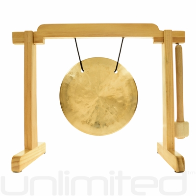 "6"" Wind Gong on the Tiny Atlas Stand - Natural - FREE SHIPPING"