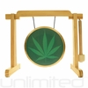 """7"""" 420 Gong on the Tiny Atlas Stand - Natural - FREE SHIPPING"""