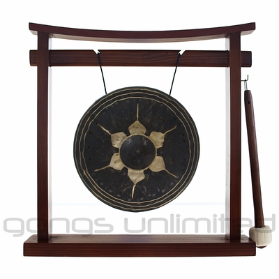 "7.5"" Thai Gong on the Pretty Chill Gong Stand - FREE SHIPPING"
